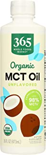 365 by Whole Foods Market, Organic Supplement - Sports Nutrition, MCT Oil - Unflavored, 16 Fl Oz