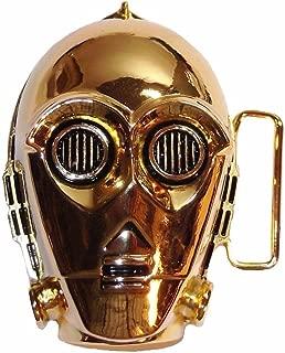 Star Wars C3PO 3D Logo Gold Metal Enamel Belt Buckle