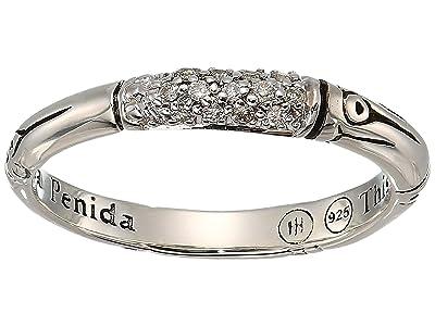 John Hardy Bamboo Diamond Pave Slim Ring (Silver) Ring