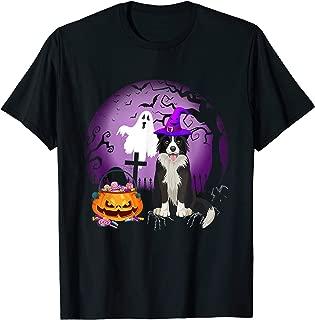Border Collie Dog Candy Pumpkin Halloween Gift T-Shirt