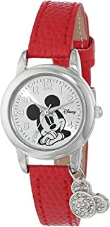 Women's MK1042 Mickey Mouse Watch with Red Leather Band