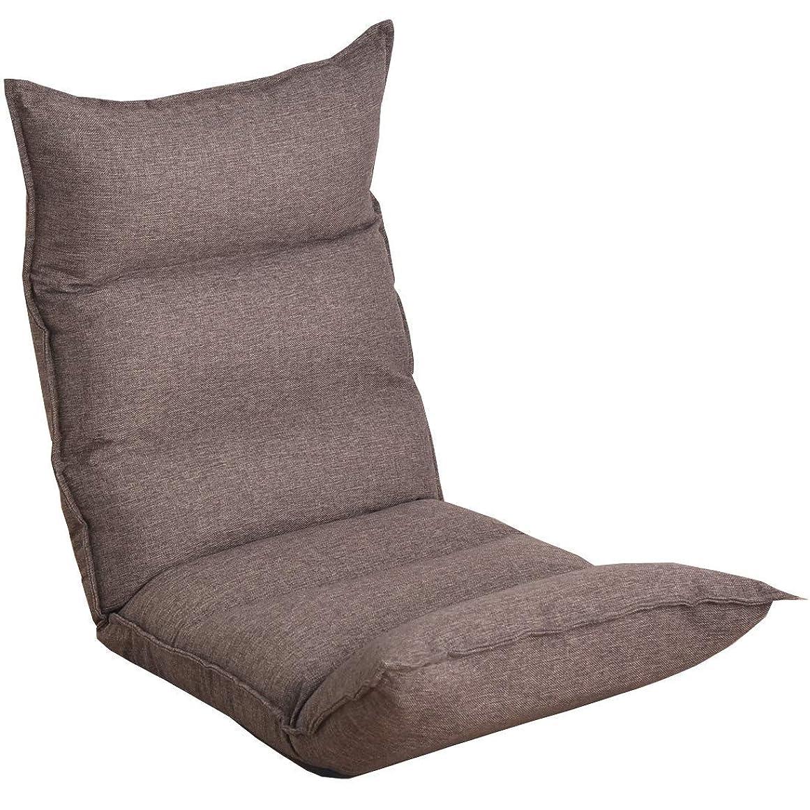 コンバーチブルスキル延ばすタンスのゲン 低反発座椅子 リクライニング ロココ 14段階リクライニング 肉厚クッション ISO9001認定 ブラウン 65170001 91 【63242】