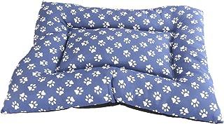 Cisne 2013, S.L. ¡Oferta Cama para Perro y Gato Azul Huellas Blancas 120 * 95cm.