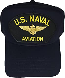 U.S. NAVAL AVIATION W/ PILOT WINGS HAT - NAVY BLUE - Veteran Owned Business