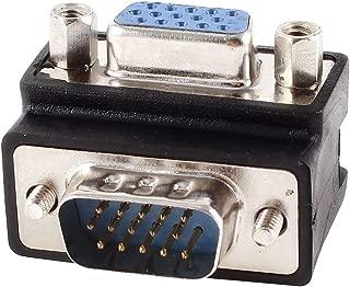 sourcing map 6.35mm Conector Macho a Mono Hembra Jack Hembra /ángulo Recto Adaptador 5 Piezas