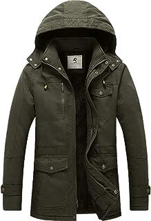 Men's Winter Coat Warm Thicken Parka Jacket with...