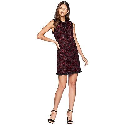 kensie Lace Lines Dress KS9K8291 (Cherry Bark Combo) Women