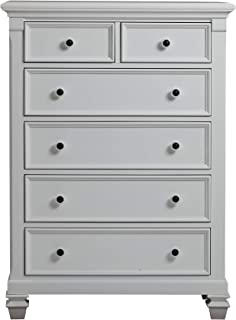 Baby Cache Glendale 6 Drawer Chest, Pure White