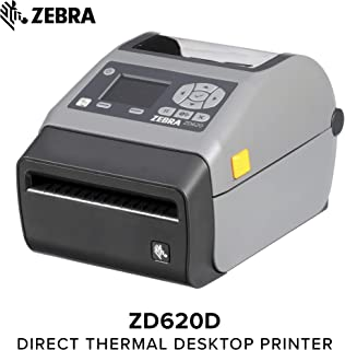 Zebra - ZD620d Direct Thermal Desktop Printer for Labels and Barcodes - Print Width 4 in - 203 dpi - Interface: Ethernet, Serial, USB - Cutter Preinstalled - ZD62042-D21F00EZ