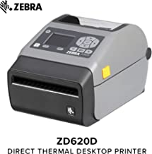 Zebra - ZD620d Direct Thermal Desktop Printer for Labels and Barcodes - Print Width 4 in - 203 dpi - Interface: Ethernet, Serial, USB - Cutter Preinstalled - ZD62042-D21F00EZ