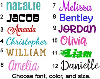 Name or Word Decal - Personalized - Solid and Glitter Color Choices - Die Cut Vinyl Lettering for Cup, Tumbler, Car Window, Laptop