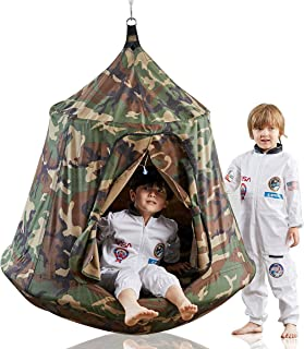 the hangout pod, kids' hanging tent - stars