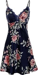 BellisMira Women's Flower Laced Cami Shorts Slip Pajamas Satin Sheer Padded Sleepwear Nighty Set