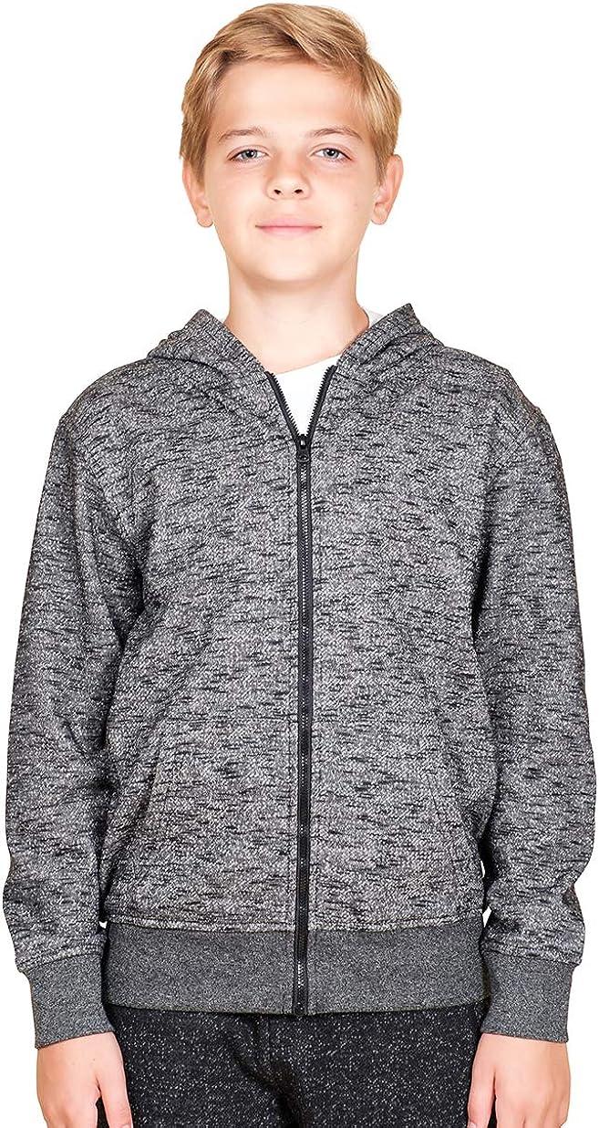BROOKLYN ATHLETICS Boys' Big Fleece Hoodie Full Zip Active Hooded Sweatshirt