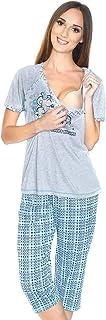Mija 2 en 1 - Pijama de lactancia y maternidad, diseño de oso de peluche durmiendo