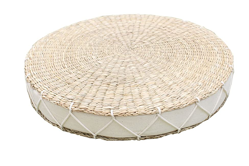 ホールド金属威するい草 座布団 円形『 カルロ 』【IT】アイボリー(#9836826)直径38cm丸×高さ5cm