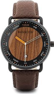 BOBO BIRD Mens Wooden Watch Analog Quartz Lightweight Wood Wrist Watch Date Display Natural Handmade Wristwatch