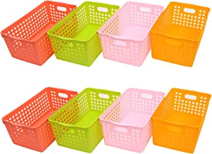Store2508 Plastic Storage Box Basket Organiser (Pack of 8)