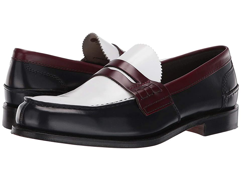 60s Mens Shoes | 70s Mens shoes – Platforms, Boots Churchs Pembrey Loafer NavyWhiteCherry Mens Shoes $540.00 AT vintagedancer.com