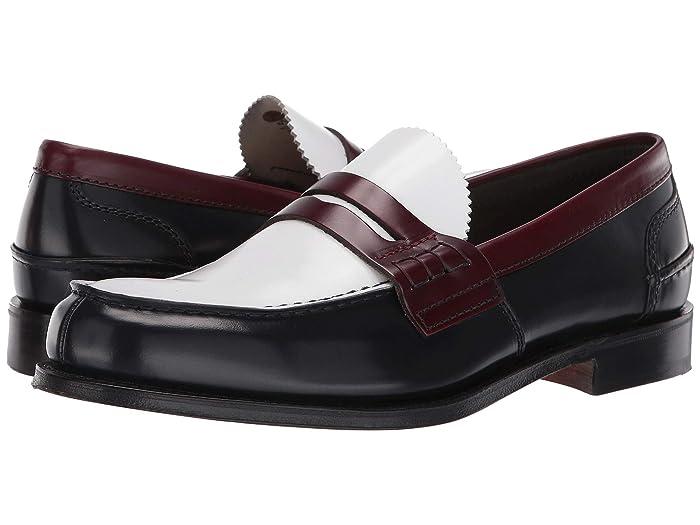 60s Mens Shoes | 70s Mens shoes – Platforms, Boots Churchs Pembrey Loafer NavyWhiteCherry Mens Shoes $243.00 AT vintagedancer.com