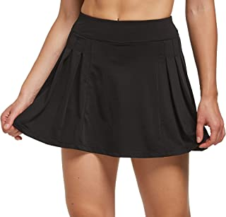 Cityoung Women's Sports Skirt Running Athletic Skorts Mid Length Tennis Shorts with Pockets
