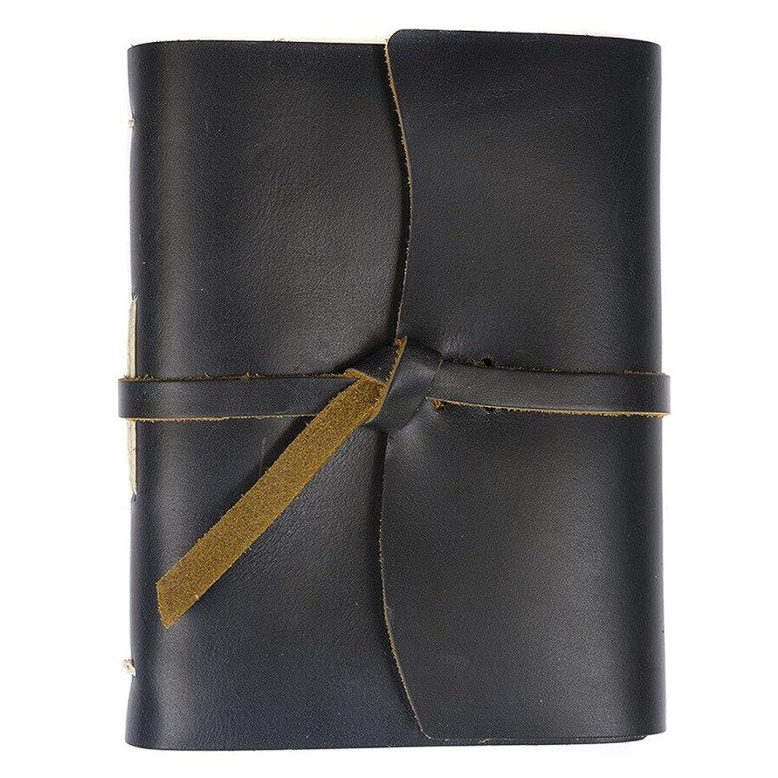 Rustico Leather Good Book w/Wrap Ocean Blue