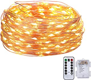 Battery Operated Fairy String Lights - 16.4FT Length 50LED Twinkle Firefly Lights with 8 Modes Remote Timer for Bedroom Pa...