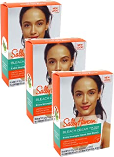 Sally Hansen Extra Strength Creme Hair Bleach For Face & Body, 1.5 oz (3 Pack)