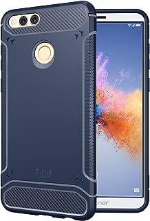 Honor 7X / Mate SE Case, TUDIA Carbon Fiber Design Lightweight [TAMM] TPU Bumper Shock Absorption Cover for Huawei Honor 7X / Mate SE (Navy Blue)