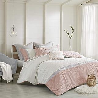 Urban Habitat All Season Down Alternative Bedding, Matching Shams, Decorative Pillows, Cotton, Myla, Jacquard Blush Ivory,...