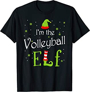 I'm The Volleyball Elf Christmas Gift Idea Xmas Family T-Shirt