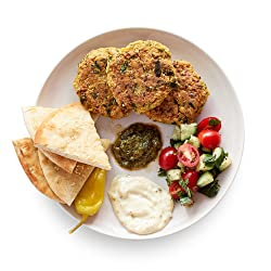 Amazon Meal Kits, Falafel Patties with Tomato & Sumac Salad, Serves 2