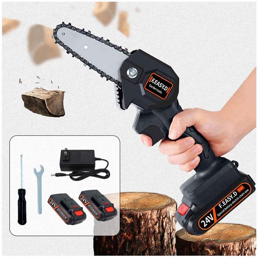 24v gift Mini Max 59% OFF Chainsaw 4-Inch Cordless Power Chain Portable Saws Hand