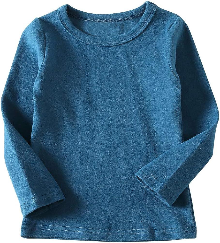 KISBINI Unisex Girls Cotton Long Sleeve Popularity T-Shirt Tees Ranking TOP11 Top