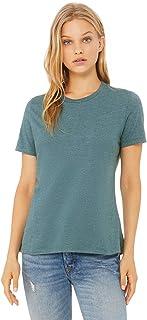 Bella + Canvas - Women's Relaxed Short Sleeve Jersey Tee - 6400 - XL - Heather Deep Teal