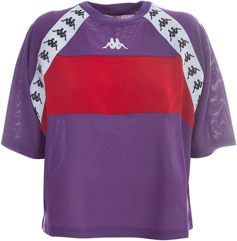 Kappa Women's 304I7P0908 Purple Polyester TShirt
