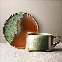 طقم فنجان قهوة خزفي إسبرسو كوب شاي للمنزل مصنوع يدويًا في الفرن كوب قهوة مصقول بالفرن، 241 جم