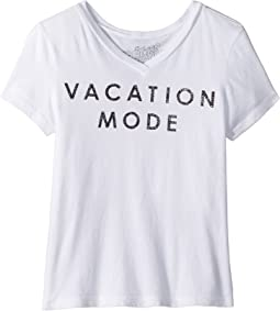 Vacation Mode Short Sleeve V-Neck Tee (Big Kids)
