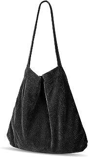 Etercycle Cord Tasche Damen Umhängetasche Groß Cord Schultertasche Retro Handtasche Damen für Alltag, Büro, Schulausflug u...