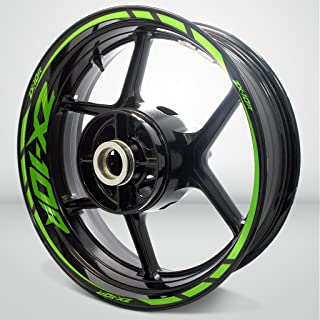 Gloss Light Green Motorcycle Rim Wheel Decal Accessory Sticker For Kawasaki ZX10R