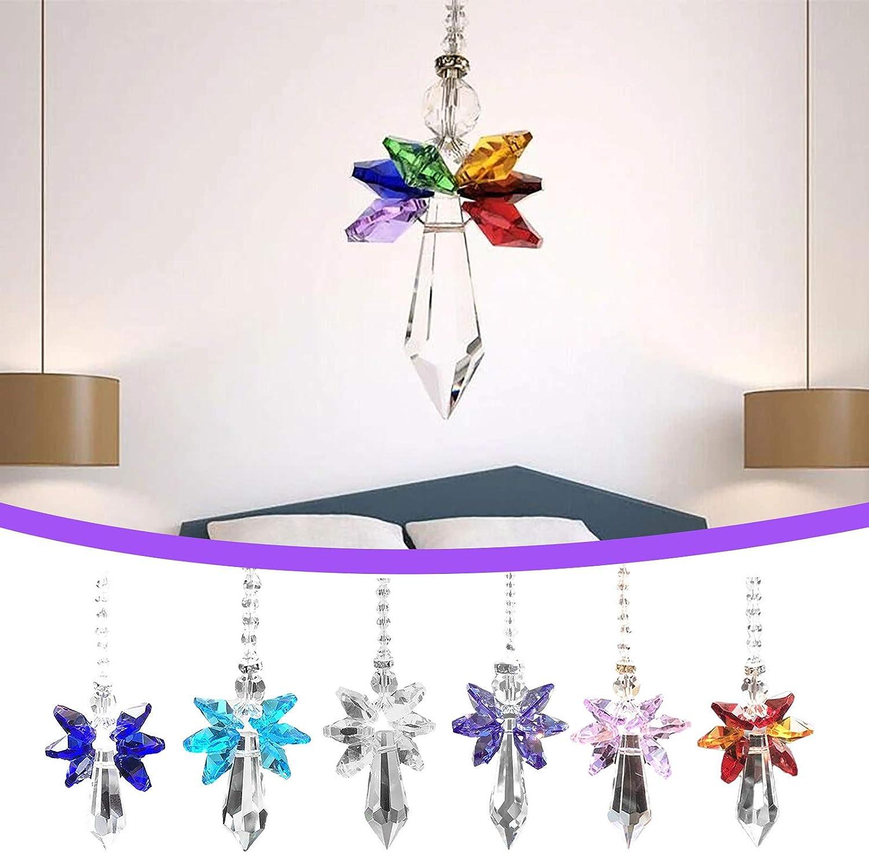 National uniform free shipping Midsumdr Directly managed store 1.5in Modern Rainbow Crystal Suncatcher- Angel - Chakra