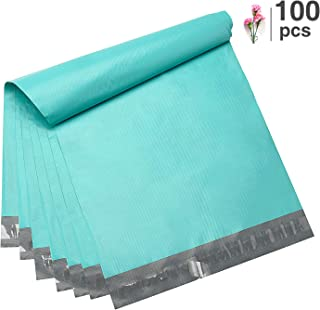 Fuxury 100 Pcs 12x15.5 Teal Poly Mailer Envelopes Embossed dots Design Shipping Bags with Self Adhesive Postal Bags