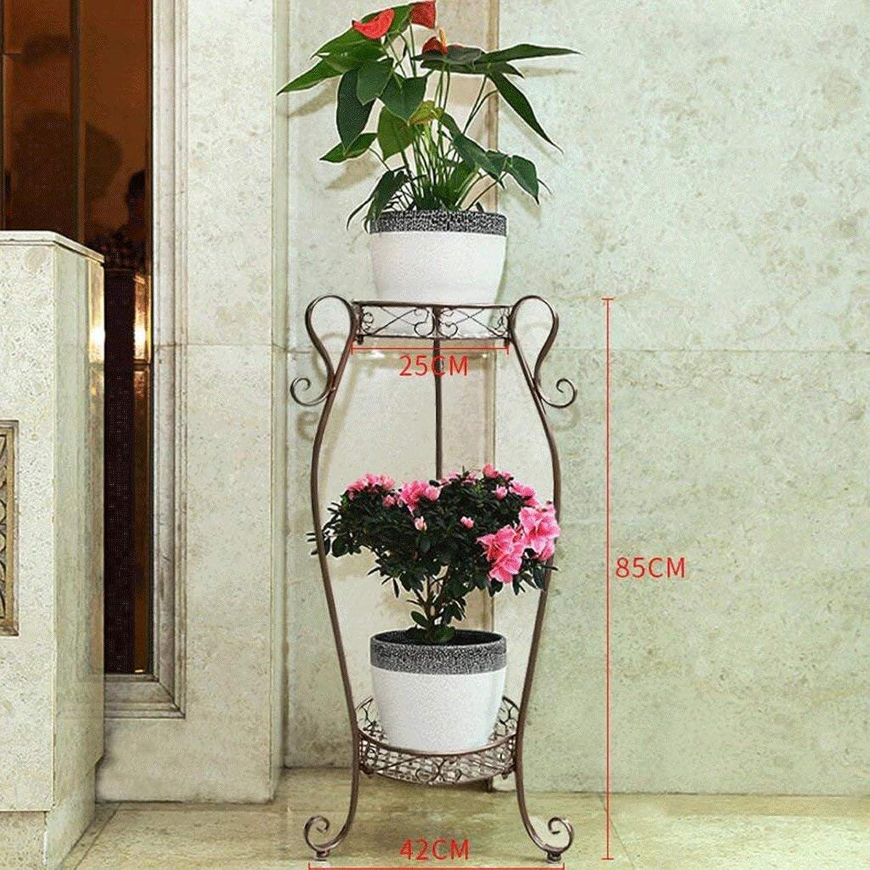 Gifts & Decor Plant Stand Shelf Flower Racks European Style Balcony Flower Frame Multiple Layers Living Room Interior Flower Flower Pot Rack Plant Shelf Folding Flower Shelf