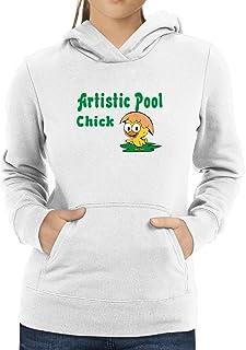 Eddany Artistic Pool Chick Women Hoodie
