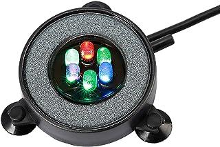 NICREW Acuario Aire Piedra, Burbujas Acuario Luces Sumergibles para Peces, Luz del Acuario Cambio de Color Automático Decoración de LED Luces Sumergibles con Filtro para Burbujas