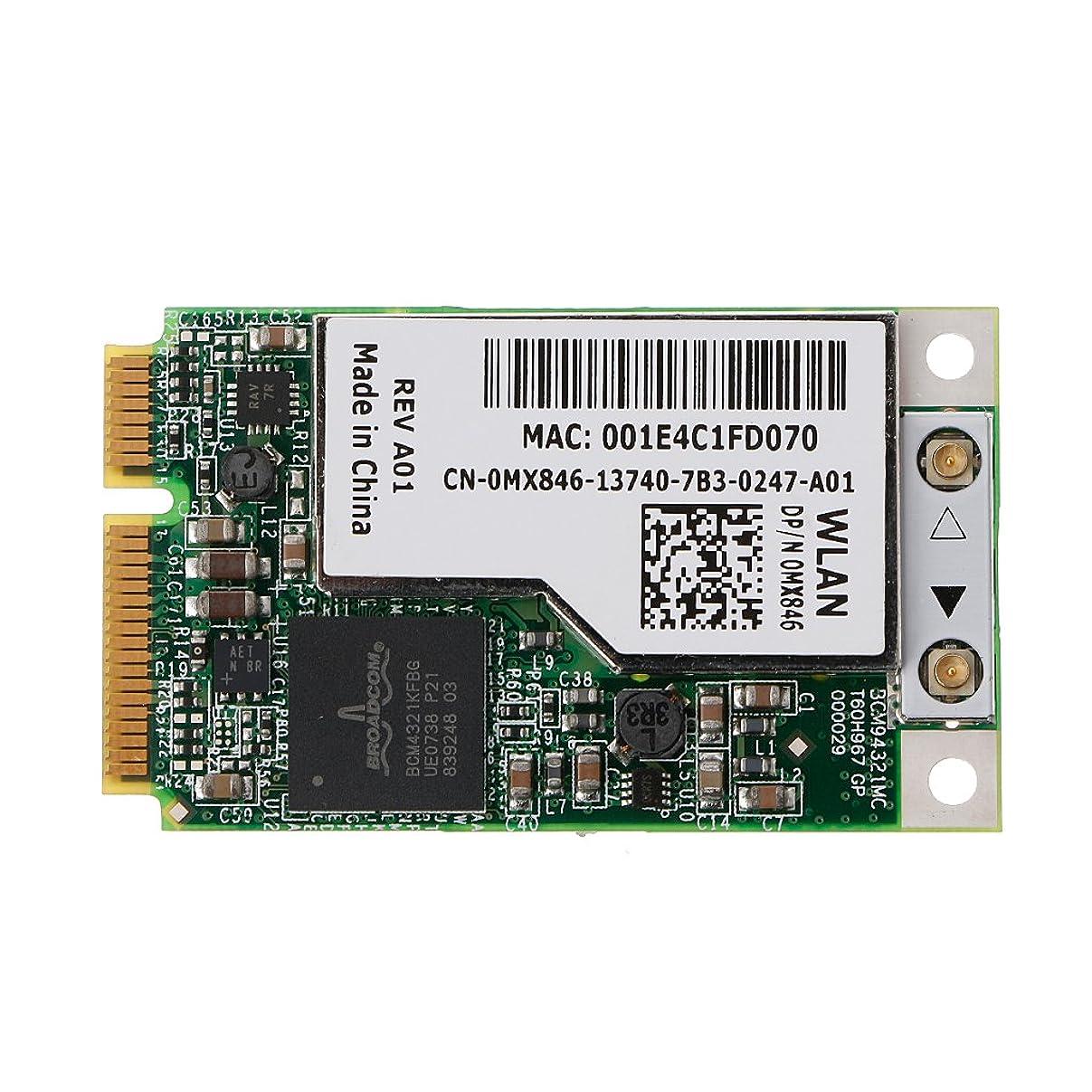 針取り囲む壊れたBYNNIX BCM94321MC BCM4321 DW1505 Mini PCI-e ワイヤレス WLANWiFiカード MX846 GP53 NJ449