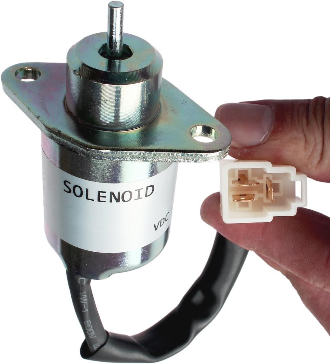 12V Fuel Shutoff Solenoid 17454-60010 17594-60014 for Kubota 05