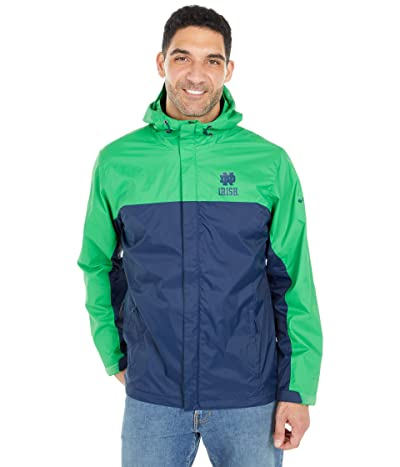Columbia College Notre Dame Fighting Irish Glennaker Stormtm Jacket (Fuse Green/Collegiate Navy) Men