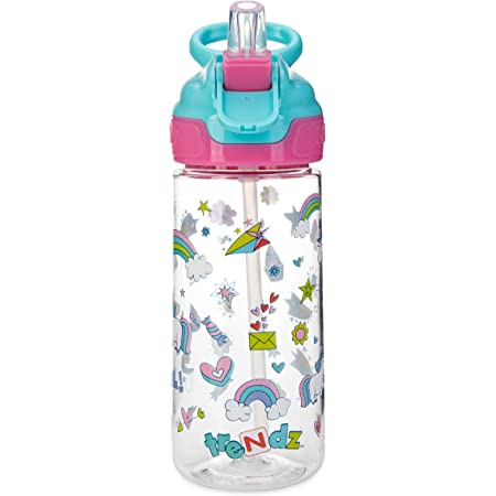Nuby Trendz Grande Water Bottle, 540 ml, Unicorns