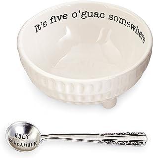 Mud Pie Circa Guacamole and Salsa Serving Dish Sets (Five O'Guac)